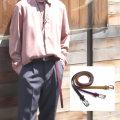 【新着】Cuirs(キュイー)メンズベルト フェイクレザー細巾ロングベルト新作デザイン