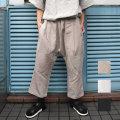 【新着】Cuirs(キュイー)メンズスラックス オリジナルリネンサルエルイージーパンツ新作デザイン