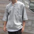 【新着】Cuirs(キュイー)メンズシャツ 布帛グレンチェックプルオーバーシャツタンクトップペアセット新作デザイン