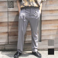 【新着】Cuirs(キュイー)メンズスラックス オリジナルロングベルト付きルーズスラックス新作デザイン