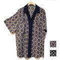 【新着】Cuirs(キュイー)メンズシャツ オリジナル小紋柄さらさら切り替えシャツ新作デザイン