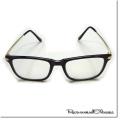 【再入荷】【SamuraiELO12月号11月号雑誌掲載】Cuirs(キュイー)メンズメガネ スタンダード細ウエリントンゴールドテンプル伊達メガネ新作デザイン