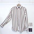 【新着】Cuirs(キュイー)メンズシャツ オリジナルさらさらレジメンストライプ柄シャツ新作デザイン