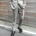 【新着】Cuirs(キュイー)メンズスラックス グレンチェックスリーピーススラックス新作デザイン