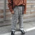 【セール】【新着】Cuirs(キュイー)メンズスラックス セットアップグレンチェックワイドパンツ新作デザイン