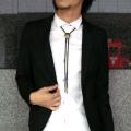 【セール】【雑誌掲載SamuraiELO12月号】Cuirs(キュイー)メンズループタイ 盾モチーフループタイ【2000円未満】