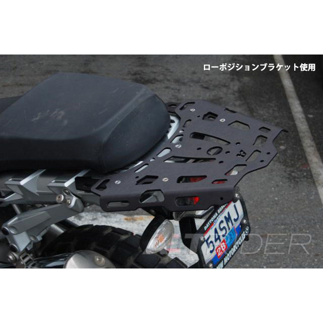AltRider リアラゲッジラック リアキャリア ローポジション R1200GS (2003-2012) - Black