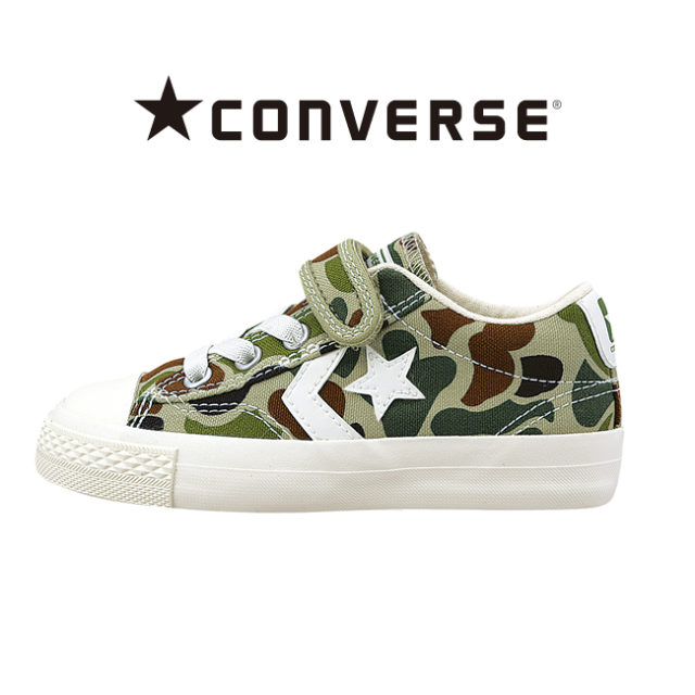 【converse(コンバース)】KID'S CANVAS CHEVRON STAR® V-1 OX(キッズ キャンバス シェブロンスター)