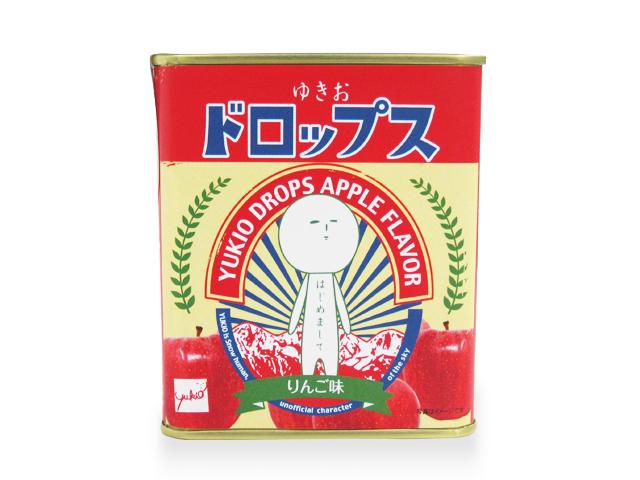 ゆきおドロップ缶NEW(リンゴ)前