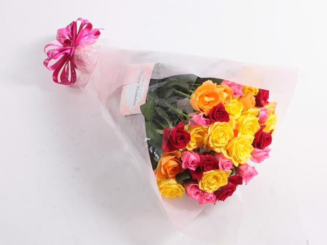【送料無料】【ラッピング無料】お得!!バラ花束ミックス30本Mサイズ