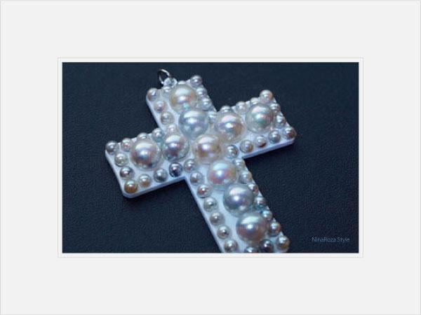 真珠のクロス