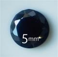●送料無料●フェアリーダイヤモンド ブラック5mm ラウンド カット10-99個