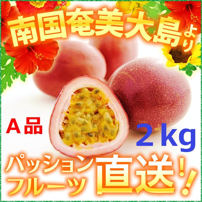 奄美大島パッションフルーツ2kg/A品パッションフルーツ2kg/贈答用(時計草)送料無料