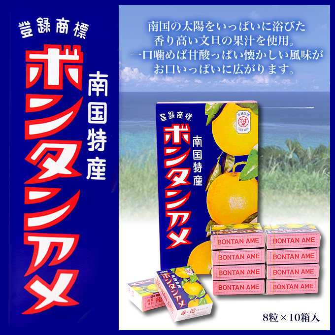 ボンタンアメ(8粒×10個入り) セイカ食品