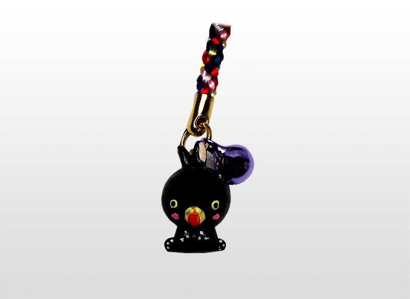奄美の黒うさぎストラップ 1