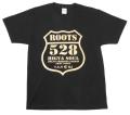 奄美大島ご当地/Tシャツ/ROOTS/528(古仁屋)黒/ゴールド