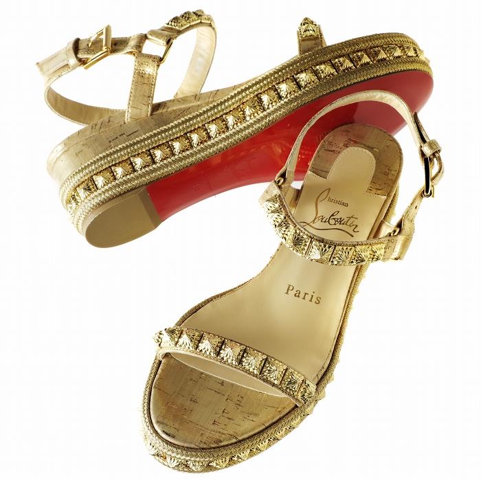 クリスチャンルブタン CHRISTIAN LOUBOUTIN 2019年春夏新作 ウェッジサンダル PYRADIAMS 60mm  シューズ 靴 サンダル 1191087 0010 GD21