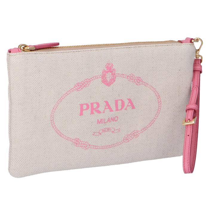 プラダ PRADA  ロゴ キャンバス ポーチ クラッチ ポーチ 1NH018 ZPX N9T【06-SS】