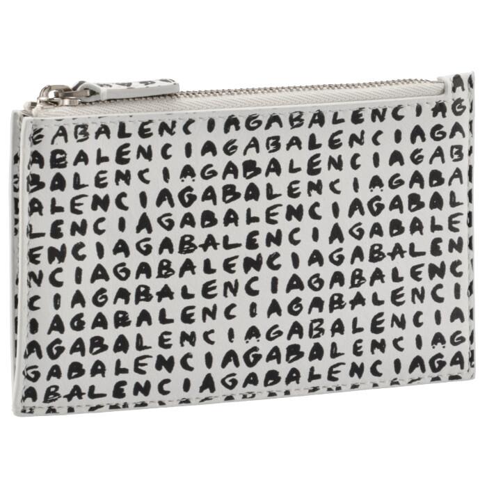 バレンシアガ BALENCIAGA 2021年秋冬新作 カードホルダー&コインケース CASH ミニ財布 フラグメントケース ホワイト系 640535 IWVG3 9188