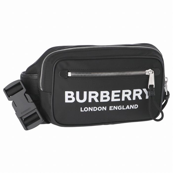 バーバリー BURBERRY 2019年秋冬新作 メンズ ベルトバッグ ロゴプリント ナイロン バムバッグ メンズ ウエストポーチ 8014603