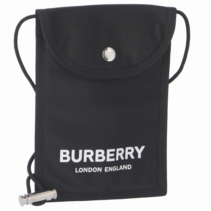 バーバリー BURBERRY 2019年秋冬新作 バッグ ロゴ ナイロン フォンケース ランヤード メンズ ショルダーバッグ フォンケース 8014730