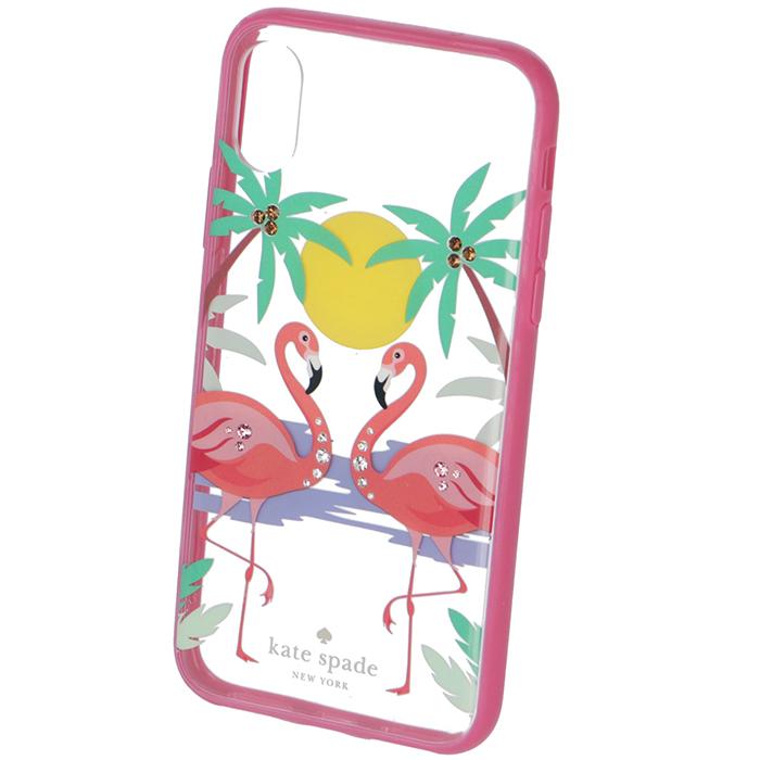 ケイトスペード KATE SPADE iPhoneケース 2018年秋冬新作 JEWELED FLAMINGO - X