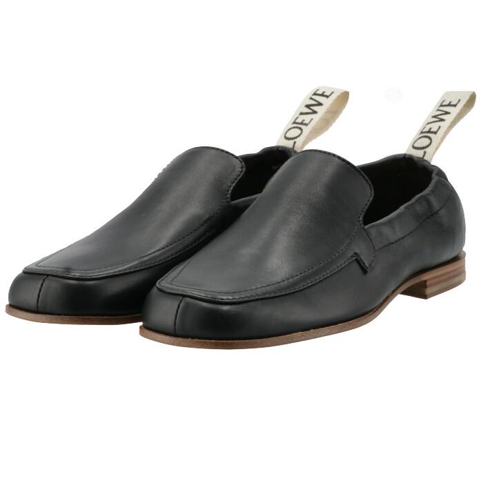 ロエベ LOEWE ローファー エラスティケーテッド ELASTICATED スリッポン レディース シューズ 靴 ブラック L815290X05 0020 1100