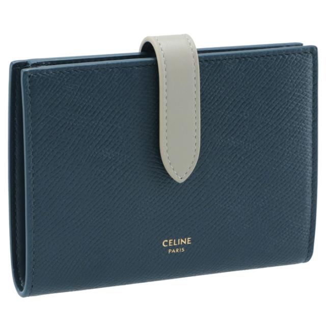 セリーヌ CELINE 財布 二つ折り ミディアム ストラップ ウォレット 二つ折り財布 10B64 3BRU 07PV