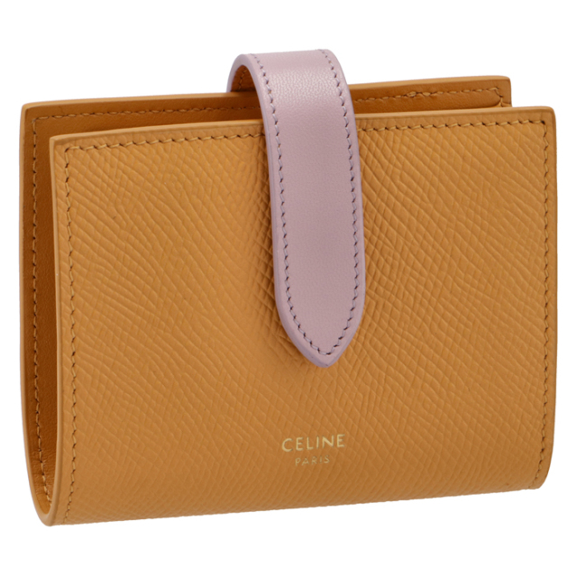 セリーヌ CELINE 財布 二つ折り スモール ストラップ ウォレット 二つ折り財布 10H26 3BRU 11CZ