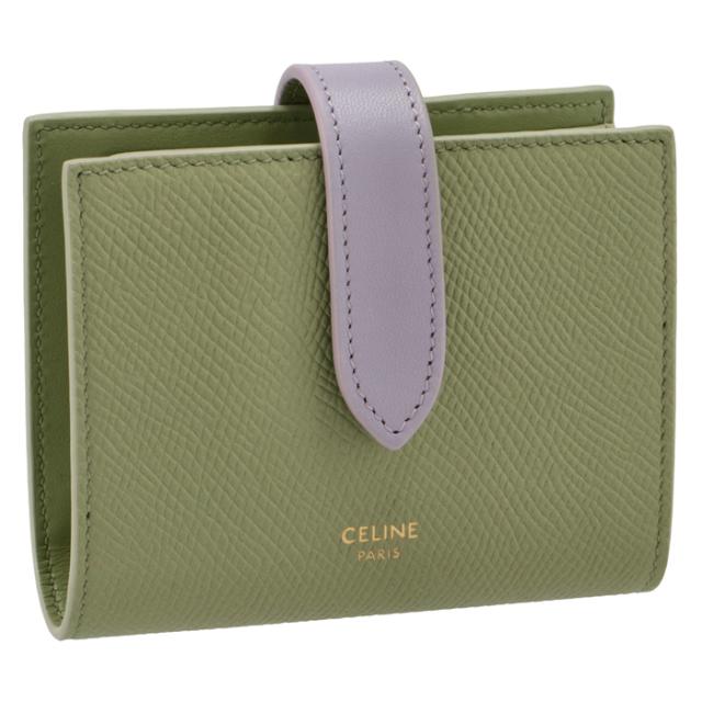 セリーヌ CELINE 財布 二つ折り スモール ストラップ ウォレット 二つ折り財布 10H26 3BRU 31SL