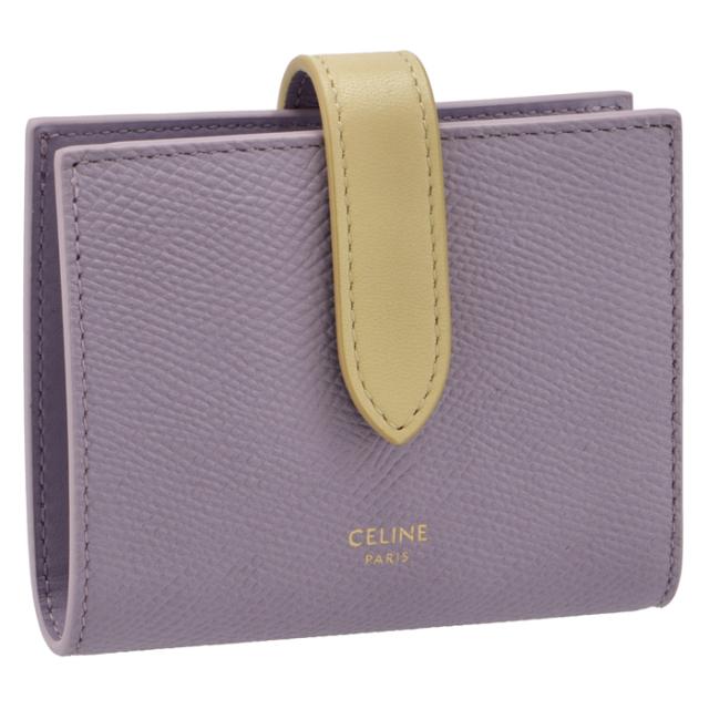 セリーヌ CELINE 財布 二つ折り スモール ストラップ ウォレット 二つ折り財布 10H26 3BRU 32LP
