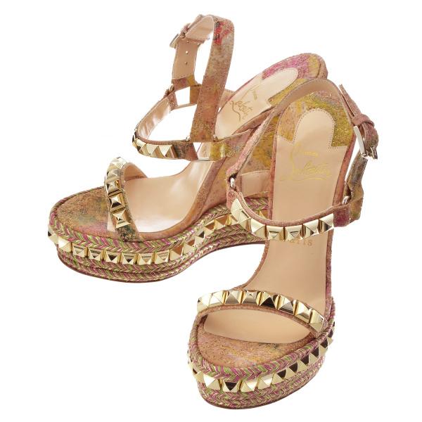 クリスチャンルブタン CHRISTIAN LOUBOUTIN 靴 サンダル コルク 1160073 0010 M341
