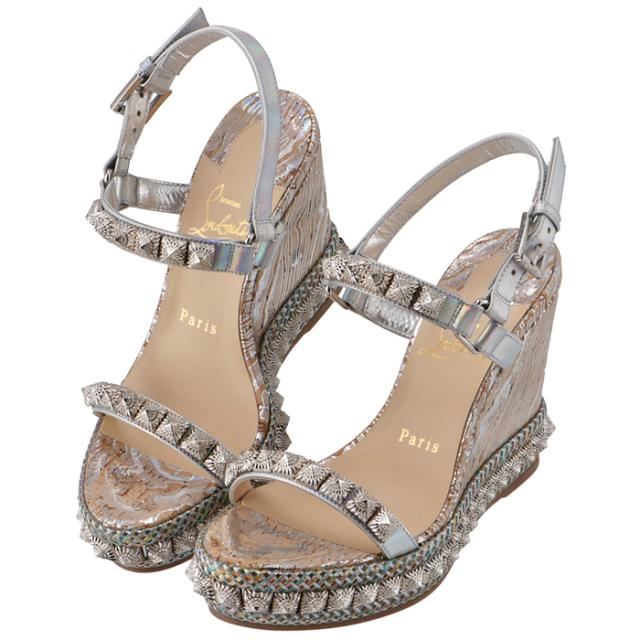 クリスチャンルブタン 2020年春夏新作 サンダル Pira Ryad ウェッジソール  シューズ 靴 サンダル 1201309 0039 H711