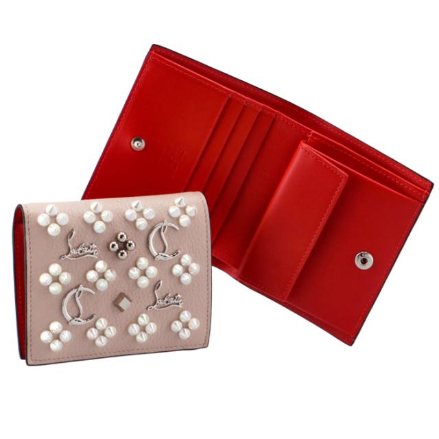 クリスチャンルブタン CHRISTIAN LOUBOUTIN 財布 二つ折り スパイクウォレット 二つ折り財布 1215054 0001 P545