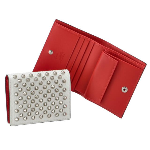 クリスチャンルブタン CHRISTIAN LOUBOUTIN 財布 二つ折り Palatin スパイクウォレット 二つ折り財布 1215148 0001 H924