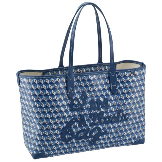 アニヤ ハインドマーチ ANYA HINDMARCH トートバッグ スモール I AM A PLASTIC BAG SMALL ブルー系 151856