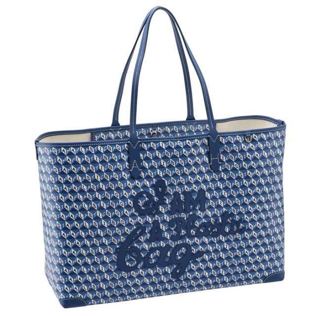 アニヤ ハインドマーチ ANYA HINDMARCH トートバッグ I AM A PLASTIC BAG ブルー系 151900