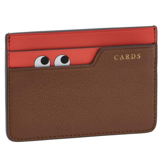 アニヤ ハインドマーチ ANYA HINDMARCH PEEPING EYES カードケース ブラウン系 155816