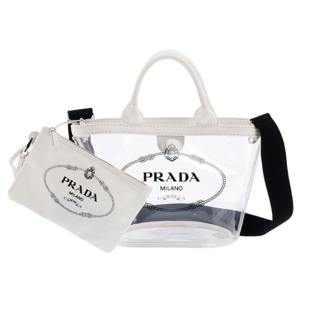 プラダ PRADA 2019年春夏新作 バッグ ショルダー プレックス PVC 2wayバッグ 2WAYハンドバッグ 1BG187OOO 2BY5 009