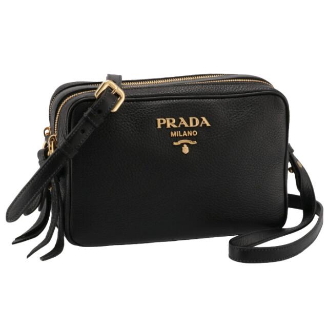 プラダ PRADA 2021年秋冬新作 レザー ショルダーバッグ レディース クロスボディバッグ ブラック 1BH082NOM 2BBE 002