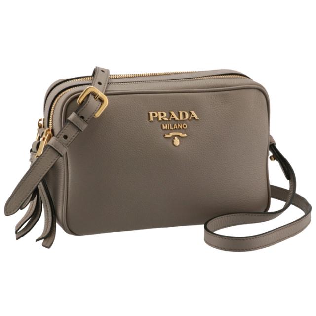 プラダ PRADA 2021年秋冬新作 レザー ショルダーバッグ レディース クロスボディバッグ ベージュグレー系 1BH082NOM 2BBE 572
