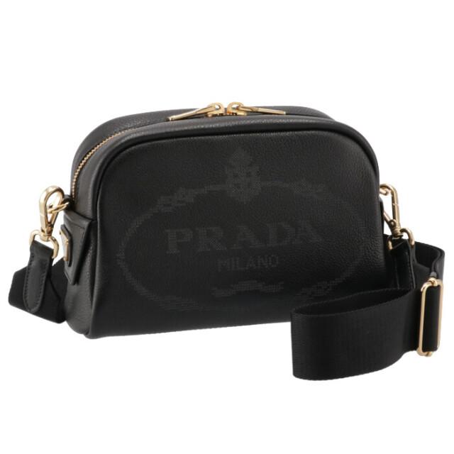 プラダ PRADA 2021年秋冬新作 ショルダーバッグ ロゴプリント レザー ミニバッグ ブラック 1BH187OLO 2DKV 002