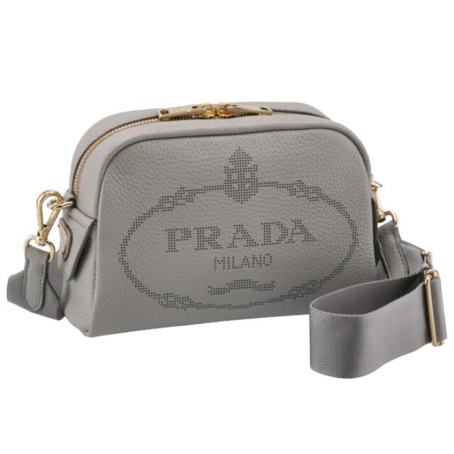プラダ PRADA 2021年秋冬新作 ショルダーバッグ ロゴプリント レザー ミニバッグ ライトグレー系 1BH187OLO 2DKV 73X