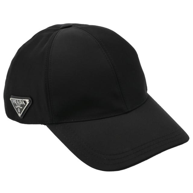 プラダ PRADA ナイロン ベースボールキャップ トライアングル ロゴ ユニセックス キャップ 1HC274 2B15 002