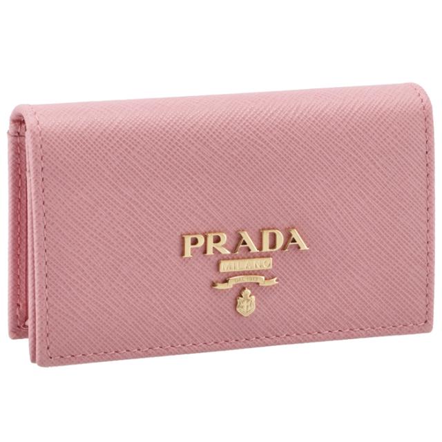 プラダ PRADA 名刺入れ レディース サフィアーノメタル カードケース ピンク系 1MC122 QWA 442
