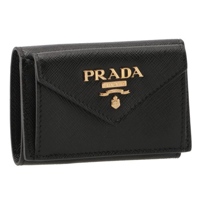 プラダ PRADA 三つ折り財布 ミニ財布 サフィアーノ 三つ折り財布 1MH021 QWA 002