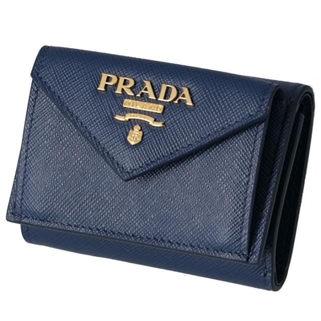 プラダ PRADA 2019年秋冬新作 三つ折り財布 ミニ財布  サフィアーノ 三つ折り財布 1MH021 QWA 016