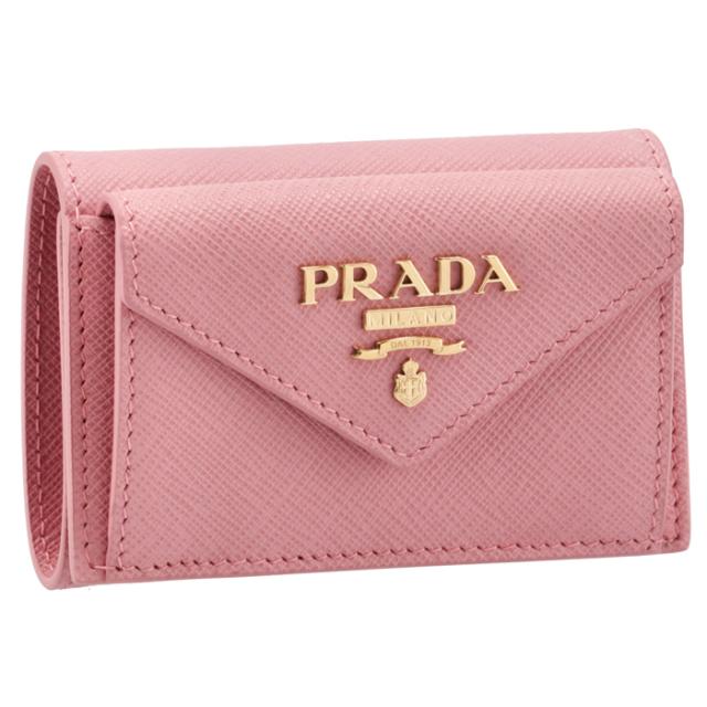 プラダ PRADA 2021年秋冬新作 財布 三つ折り サフィアーノ ミニ財布 レディース ピンク系 1MH021 QWA 442