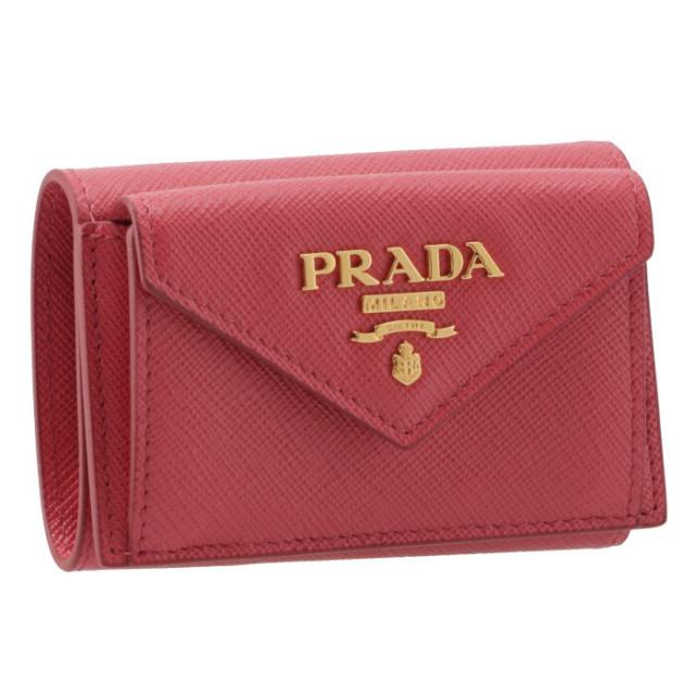 プラダ PRADA 三つ折り財布 ミニ財布 サフィアーノ 三つ折り財布 ...