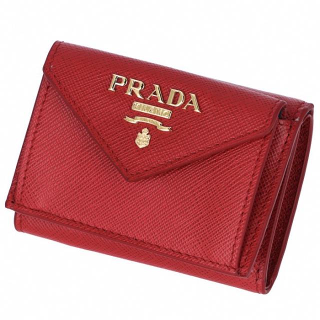 プラダ PRADA 2019年春夏新作 三つ折り財布 ミニ財布  サフィアーノ 三つ折り財布 1MH021 QWA 68Z